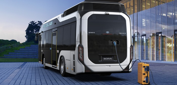 Toyota launches fuel cell bus in Tokyo