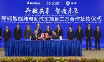 Magna signs two joint ventures to build electric vehicles