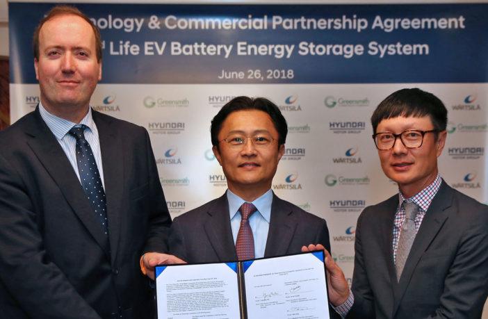 Hyundai partners with Wärtsilä to utilize second-life EV batteries