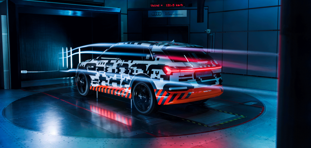 Aerodynamic design plays key role in Audi e-tron's range figures
