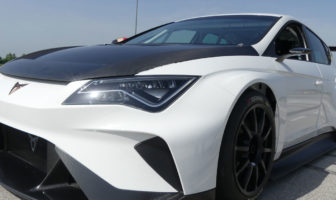 All-electric Cupra E-Racer tests on track for the first time