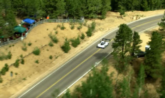 Aerial footage of record-breaking ID R Pikes Peak route