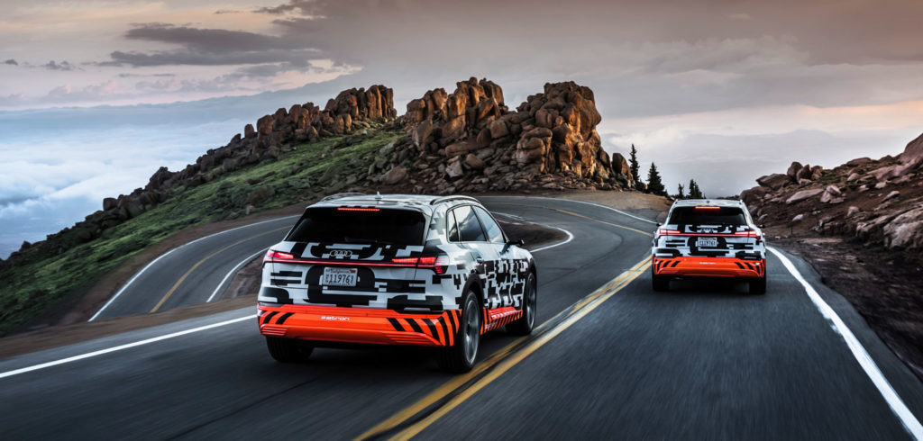 Audi demonstrates e-tron energy recuperation systems on Pikes Peak