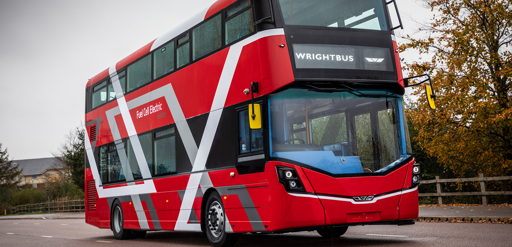 Wrightbus debuts world's first fuel-cell double-deck bus - Electric