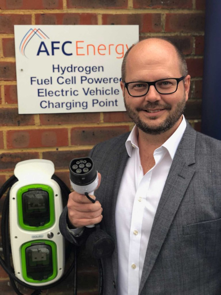 AFC Energy demonstrates hydrogen electric vehicle charger