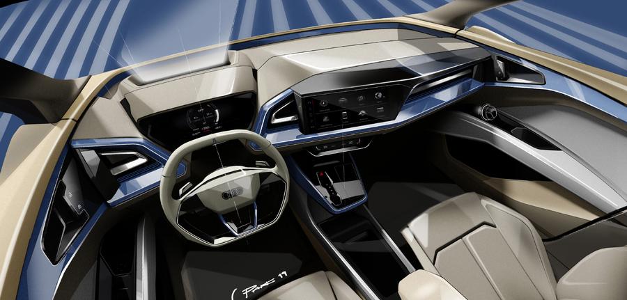 audi q4 tron concept teases electric technology