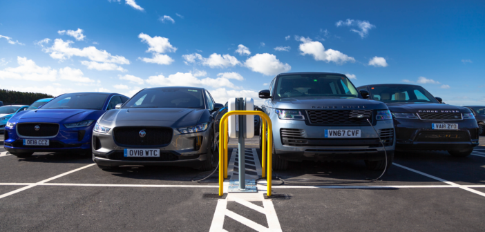 JLR installs UK's largest single smart charging facility