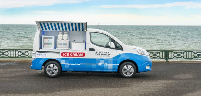 Nissan unveils all-electric ice cream van concept