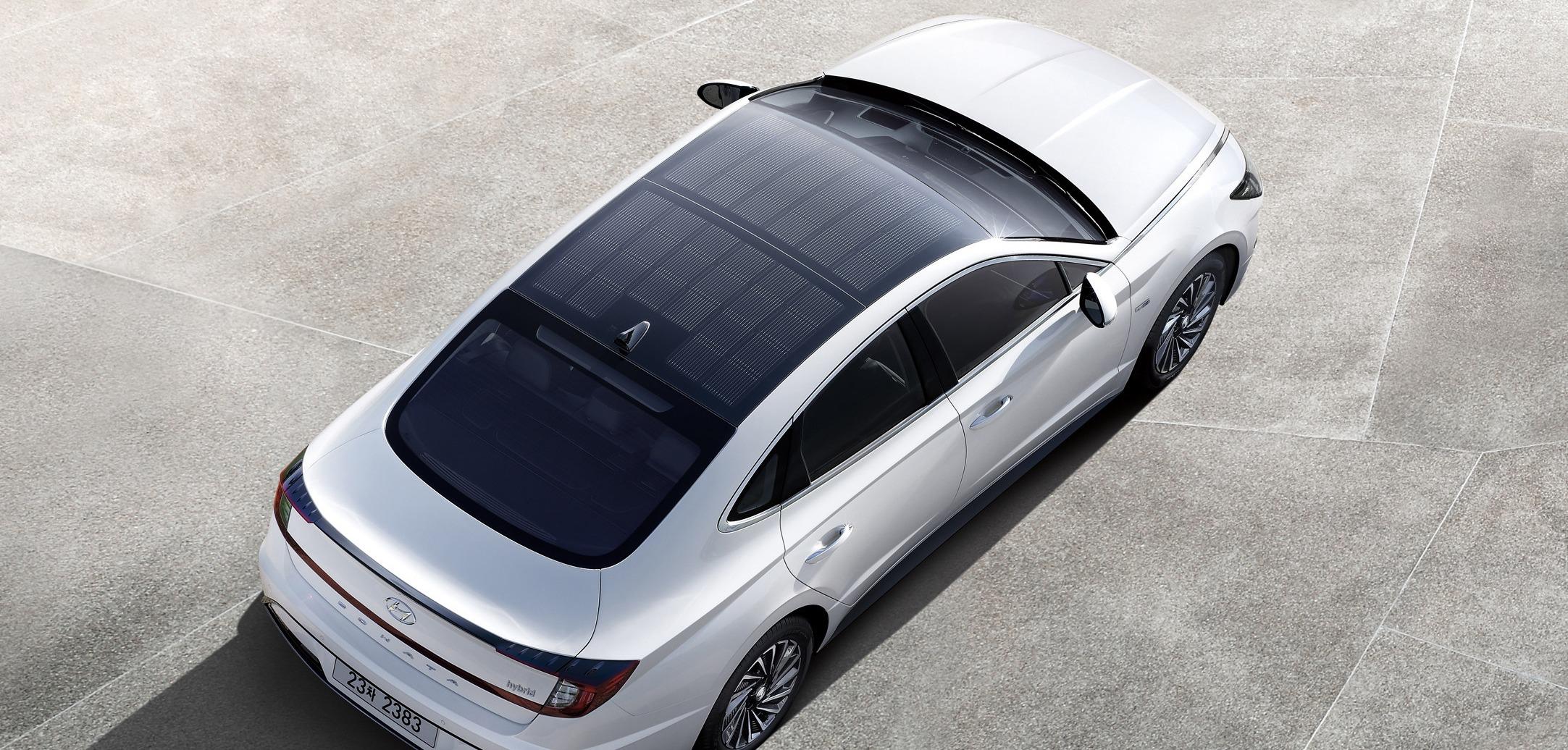 Hyundai Launches Solar Powered Car Electric Amp Hybrid