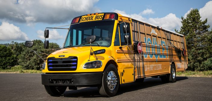 Iconic yellow US school buses go 'green'