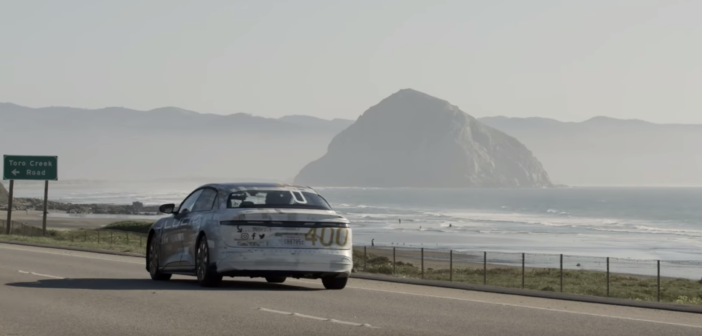 Lucid Air real-world range driving challenge from San Francisco to LA