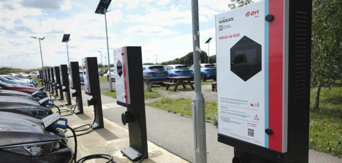 Nissan installs first large-scale V2G chargers in UK